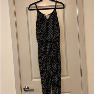 Black patterned jumpsuit